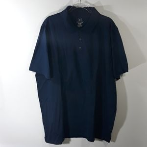 GEORGE Navy short sleeve polo size 2XL